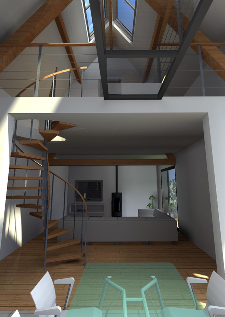 R habilitation d 39 une grange bachy - Renovation grange loft ...