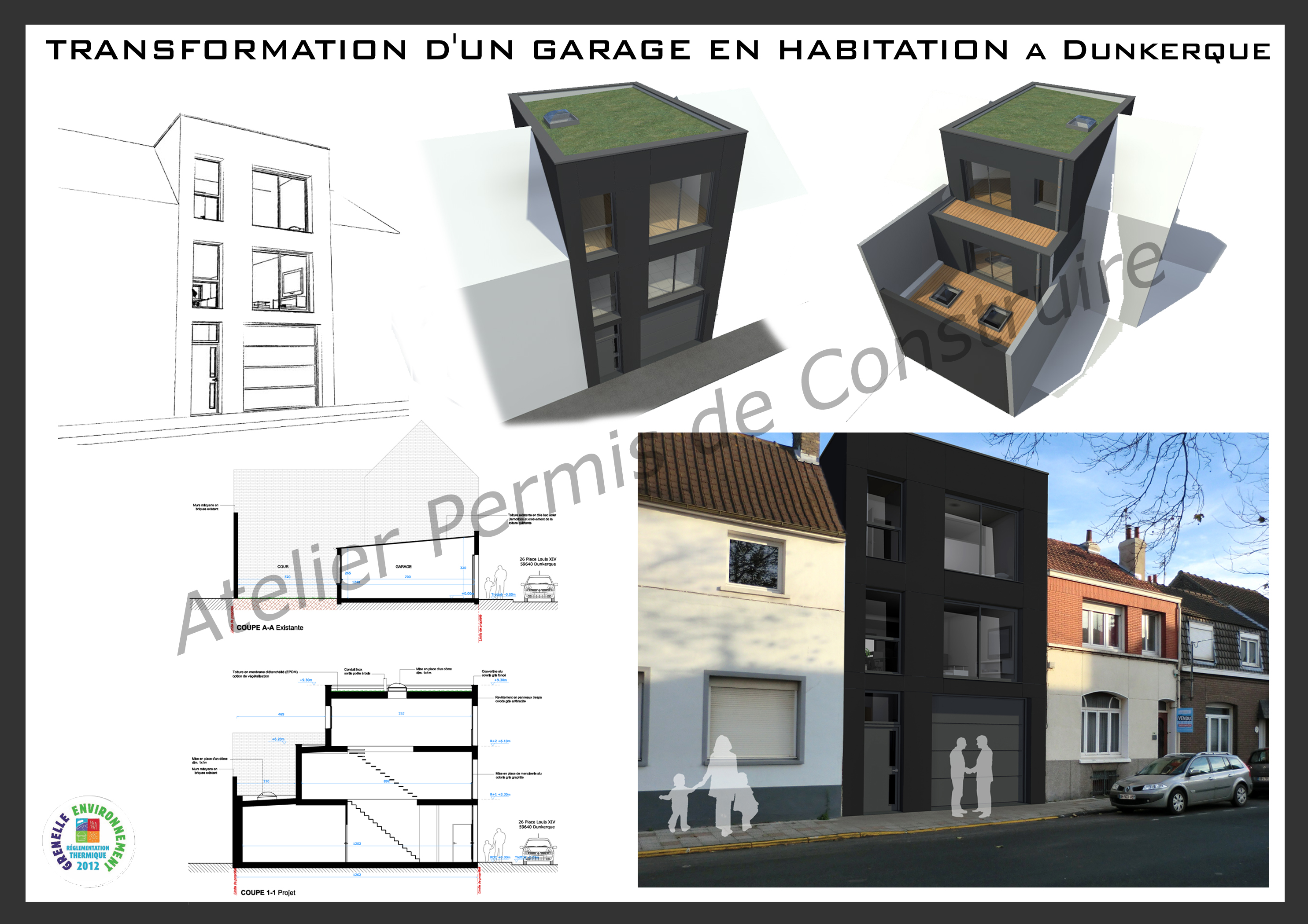 transformer garage en habitation le garage avant la peu accessible et ferm transformer garage. Black Bedroom Furniture Sets. Home Design Ideas