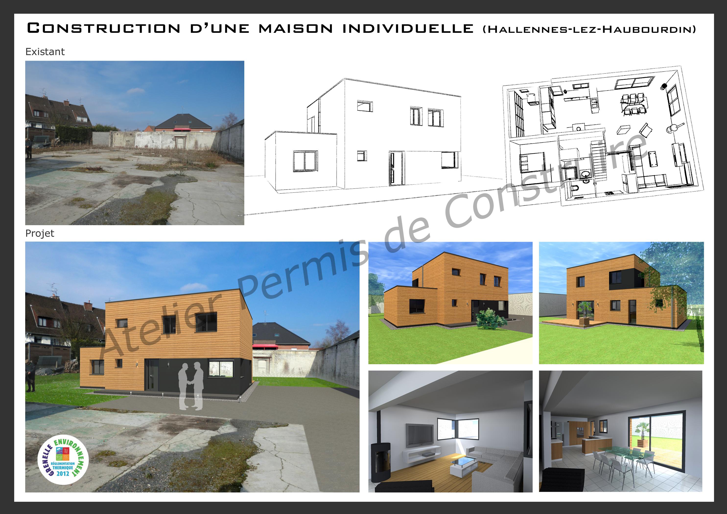 Construction d 39 une maison individuelle hallennes lez for Projet de construction de maison