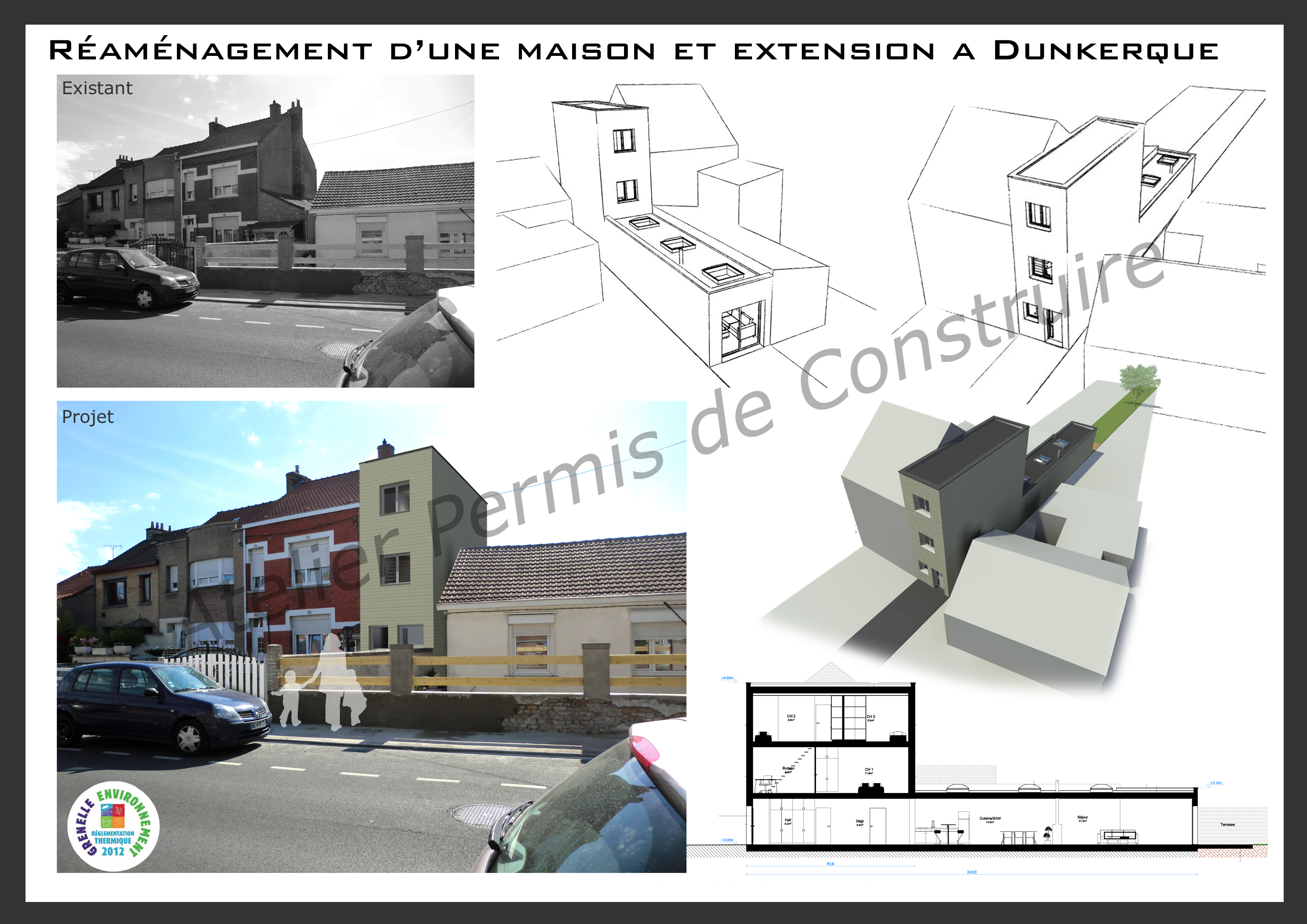 construction d 39 une maison troite dunkerque. Black Bedroom Furniture Sets. Home Design Ideas