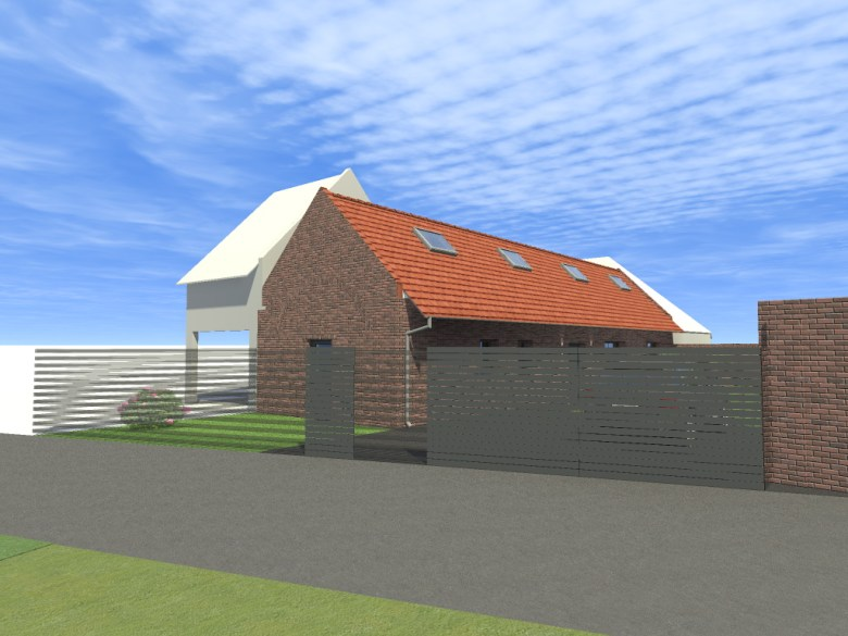 15.12 rénovation d'une grange Nord Permis de construire Fline-lez-raches8