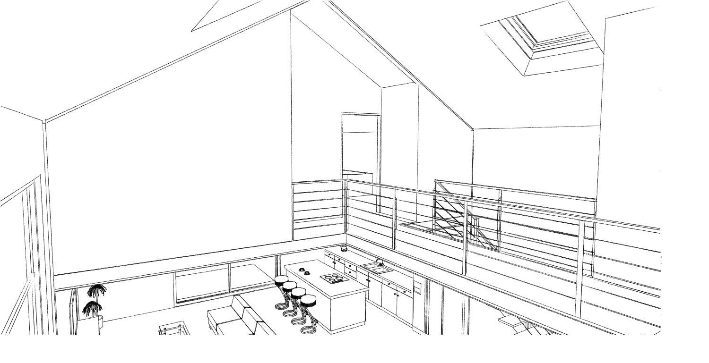 atelier permis de construire construction maison loft la gorgue27. Black Bedroom Furniture Sets. Home Design Ideas