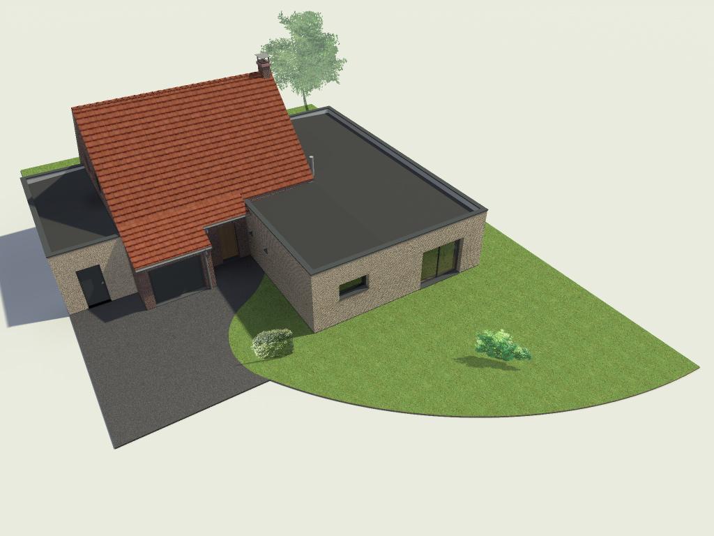 Extension d 39 une maison individuelle sequedin - Permis de construire extension ...