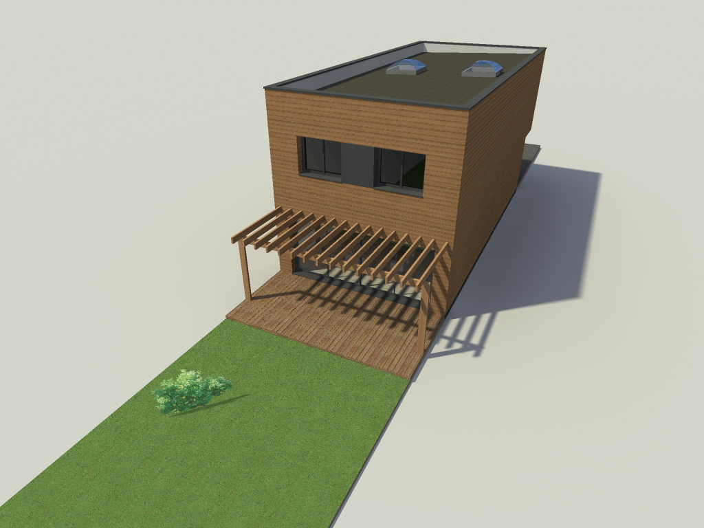 Construction d 39 une maison cube la bass e - Permis de construire extension ...