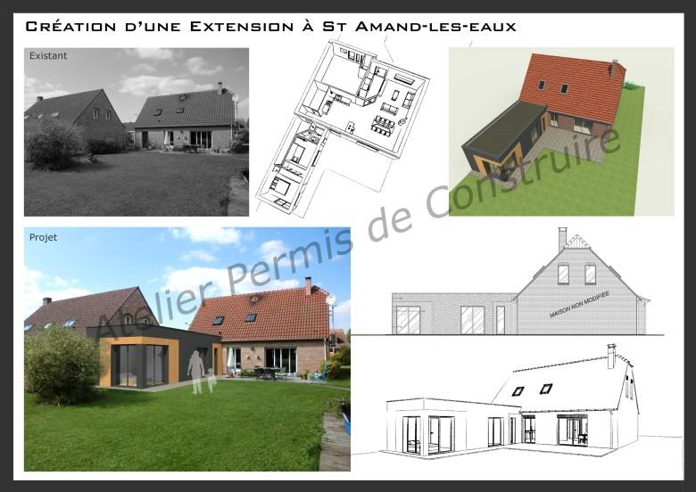 15.30 Atelier Permis de construire extension nord architecte