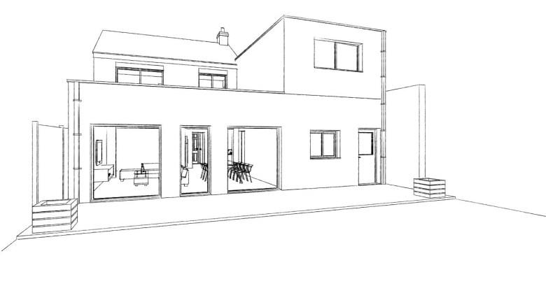 15.26 Extension maison permis de construire nord Valenciennes15