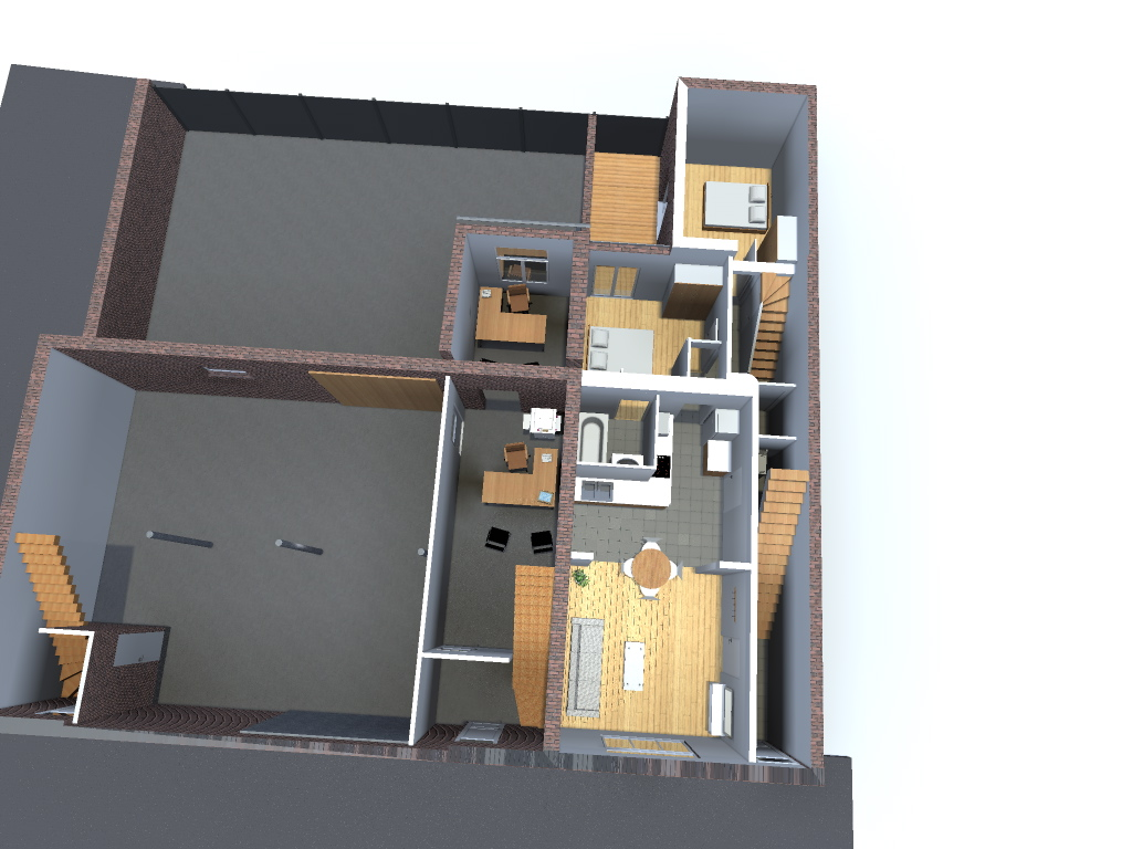 Division d 39 une maison en 3 appartements avec l 39 am nagement for Atelier de la maison
