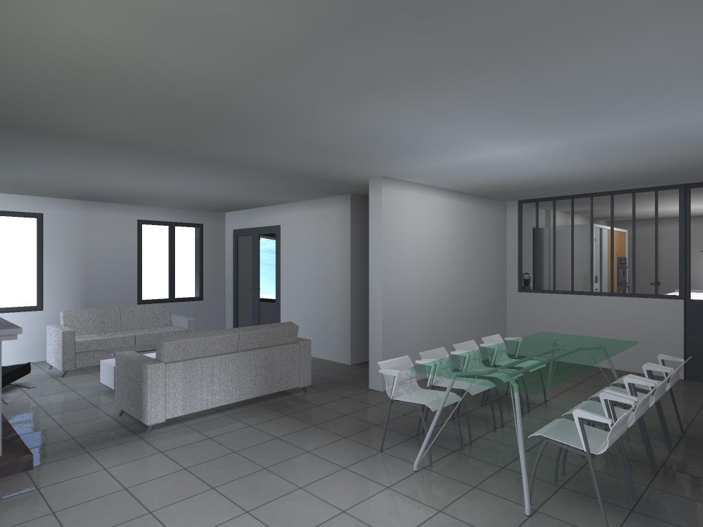 Extension d 39 une maison individuelle mouchin nord - Extension maison permis de construire ...
