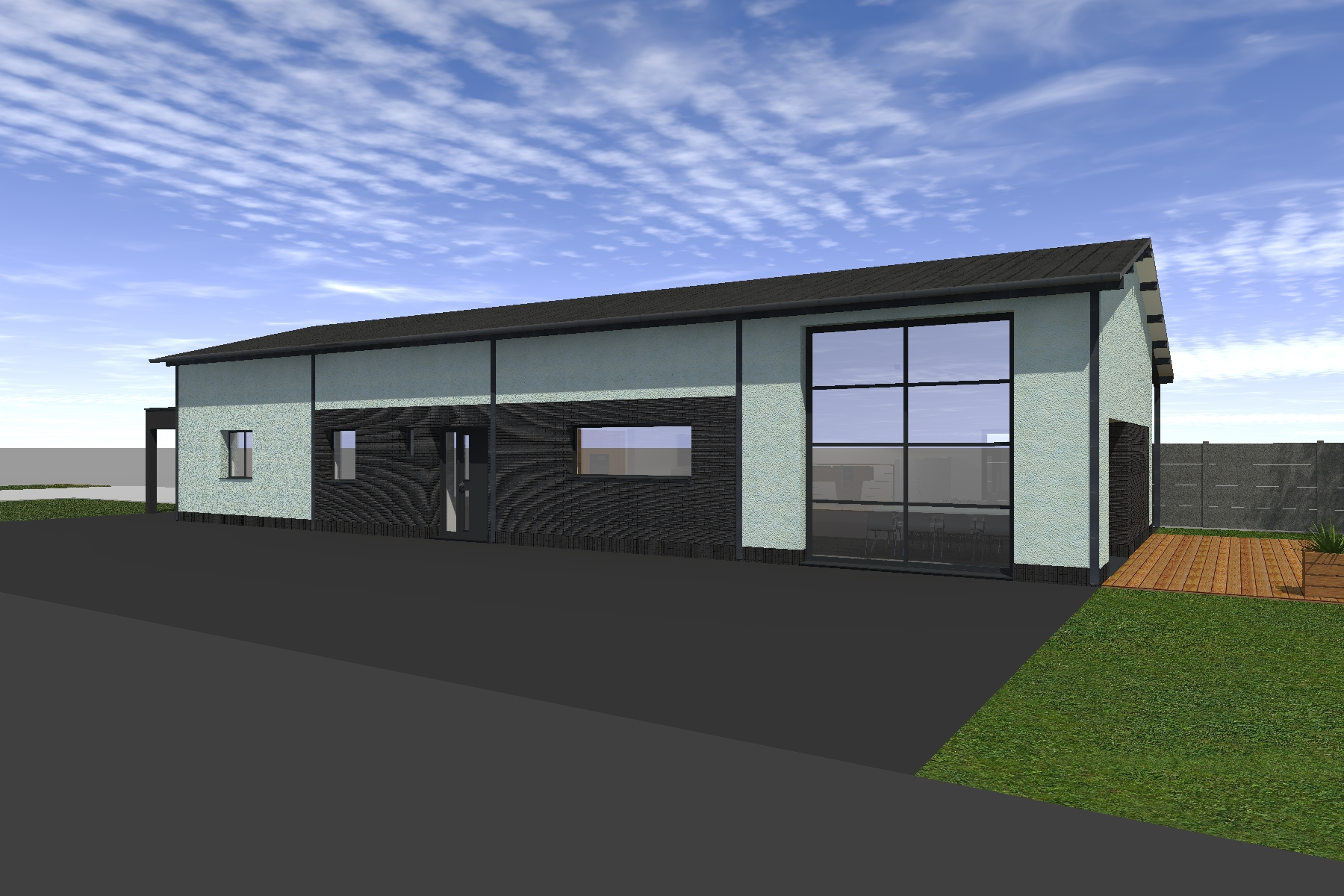 Transformation d 39 un hangar en habitation loft bois bernard - Amenagement hangar en habitation ...