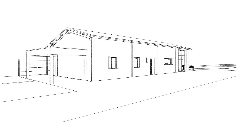 Transformation d 39 un hangar en habitation loft bois bernard for Permis de construire hangar