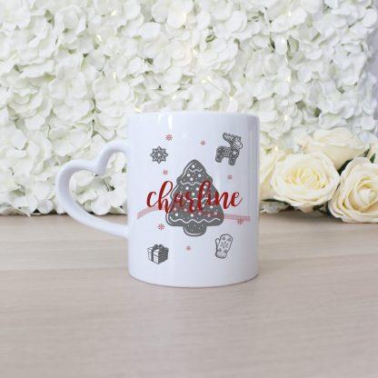 Mug personnalisé de Noël avec motifs