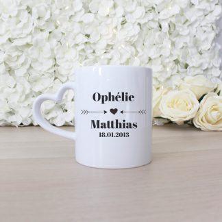 Mug personnalisé couple mariage