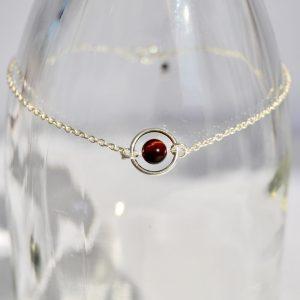 bijoux-pierre-argent-vrai-collier-funambule-lithotérapie-Oeil de taureau-1