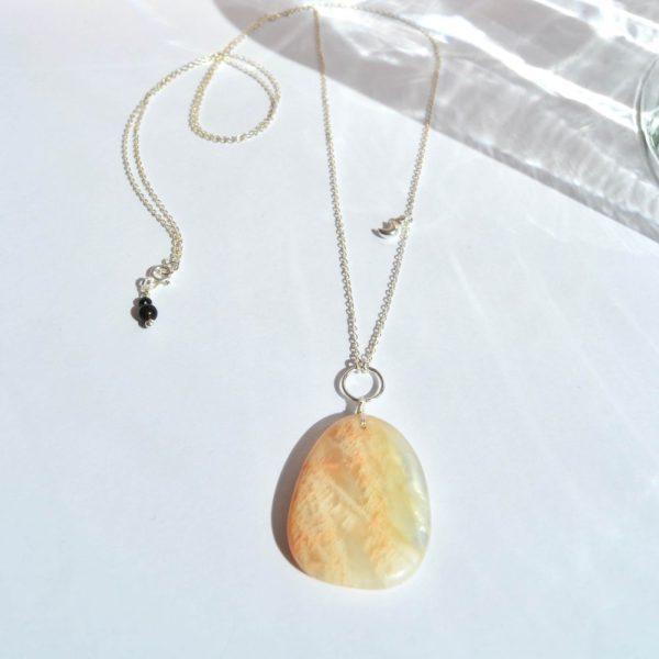 bijoux-pierre-argent-vrai-sautoir-lithotérapie-pierre-de-lune-2