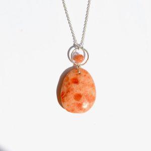 bijoux-pierre-argent-vrai-sautoir-funambule-lithotérapie-orange-pierre-de-soleil-2