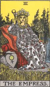 ウェイト版タロットカード女帝