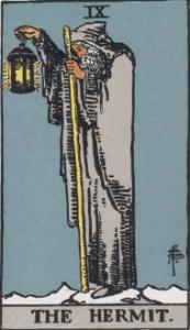 ウェイト版タロットカード隠者