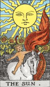 ウェイト版タロットカード太陽
