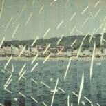 Wahrnehmungsverschiebung, bemalte Fotos [Lack] auf Papier, 38,5 x 14