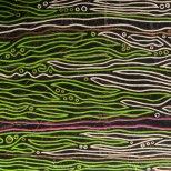 Ohne Titel_grün-ecru, Acryl auf Karton, 62 x 28