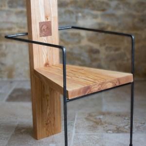 Chaise Bohlin - frêne et acier, par l'Atelier Villard.