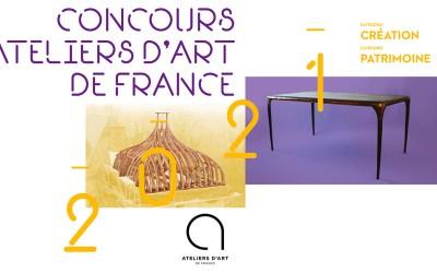 Concours Ateliers d'Art de FranceVilledieu-les-Poêles (Manche)Exposition sous vitribulles, Place de la République22 au 28 juin 2021