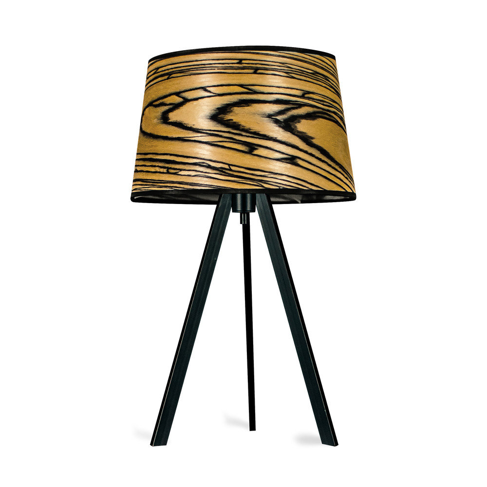 ATTICA - Table lamp stainless steel White Ebony