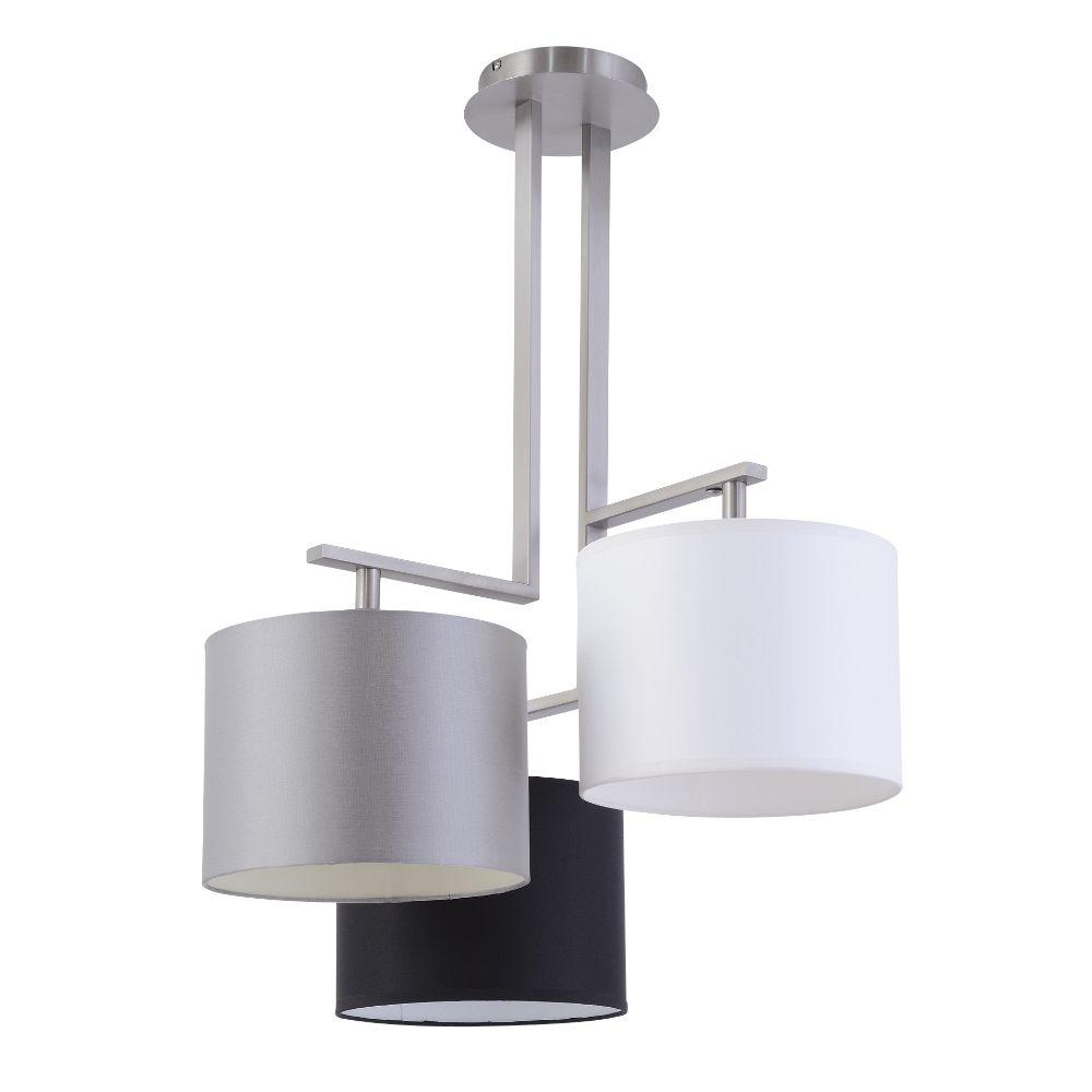 Ceiling light 3 armig with shades stainless steel - SI-EL-NI-5