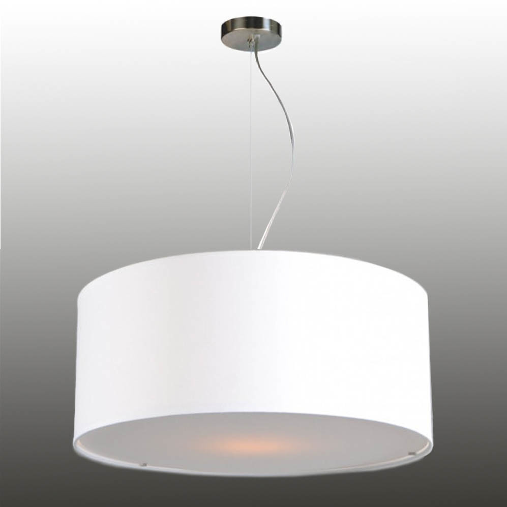 Pendant lamp shade with wire rope suspension fabric 50/20 cm