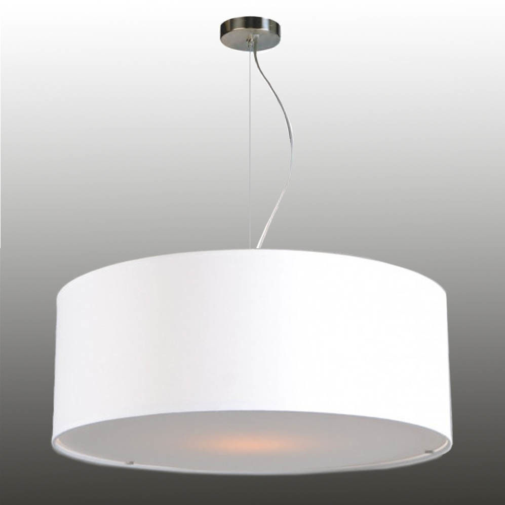 Pendant lamp shade with wire rope suspension fabric 58/20 cm
