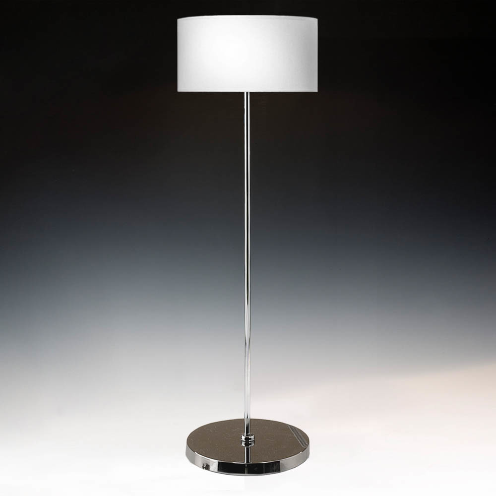 Floor lamp chrome without shade 110 cm high