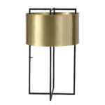 Table lamp modern bronze with shade