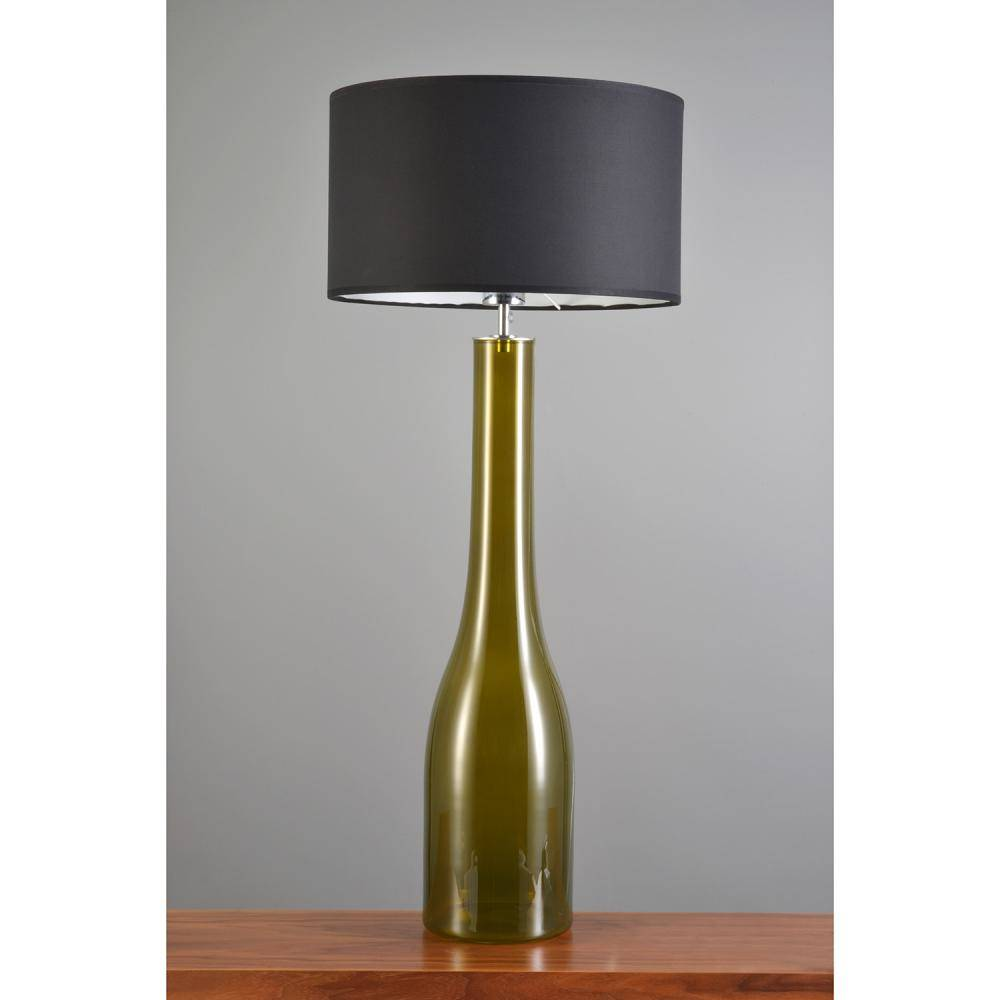 Table lamp Jeany in trendy Kale/Oliv