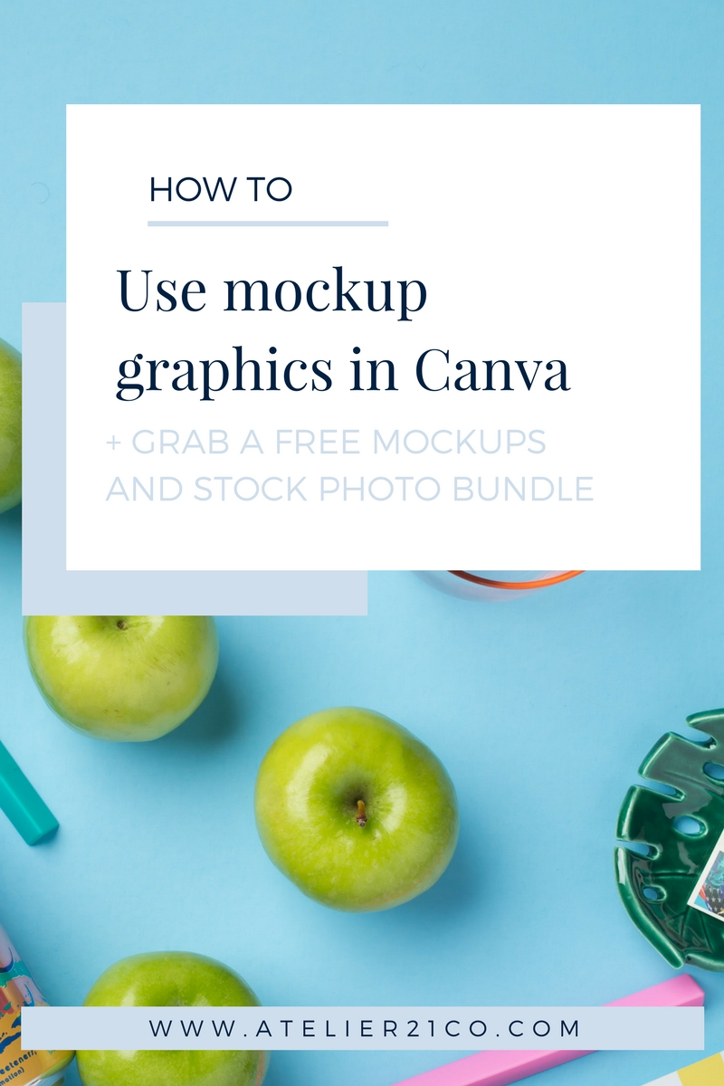 See how easy it is to use mockups in Canva. Video included! #canva #mockups #digital products
