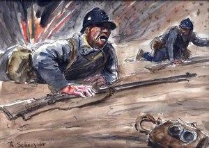 Ceci doit être l'image de première de couverture du livre que je compte publier sur l'histoire de mon grand-père pendant la Grande Guerre dont on célèbre le centenaire en ce moment.
