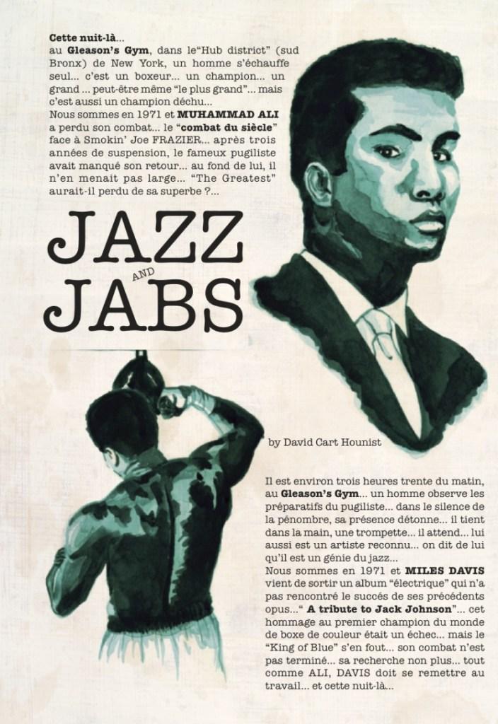 La planche 1 de la BD Jazz and Jabs par Dave Cart Hounist