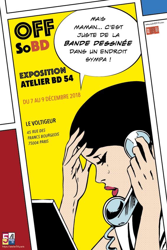 L'atelier BD 54 expose dans le bistrot LeVoltigeur à Paris