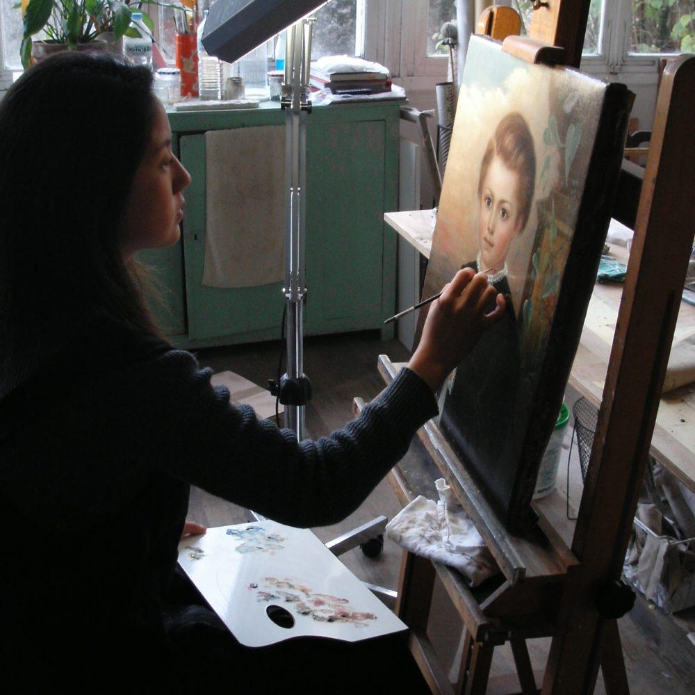 Akiko en cours de retouche