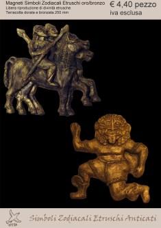 Zodiaco etrusco bronzato