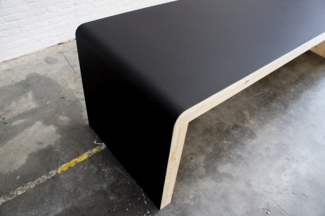 Atelier Antipode black linoleum table