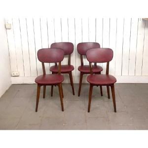 4-chaises-bordeau-bois-1