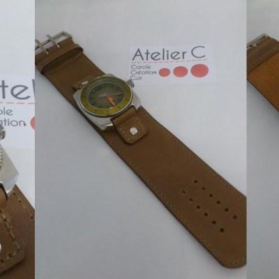 bracelet de montre cuir sur-mesure
