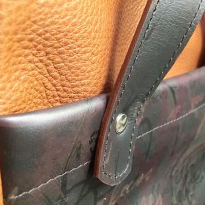 sac nomade cuir Atelier C détail arrière