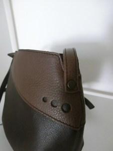 Sac Indispensable cuir marron / brun