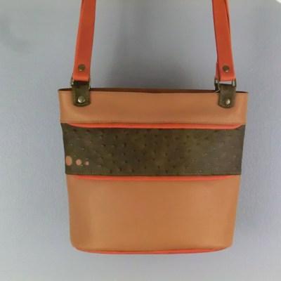 Sac cabas cuir Atelier vue générale beige / autruche