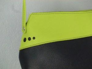 Sac Indispensable cuir bleu / vert