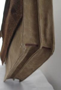 sacoche cartable cuir double compartiment