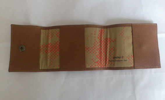 porte chequier cuir standard Atelier C