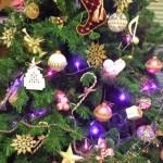 クリスマスツリーに飾られて(^^♪