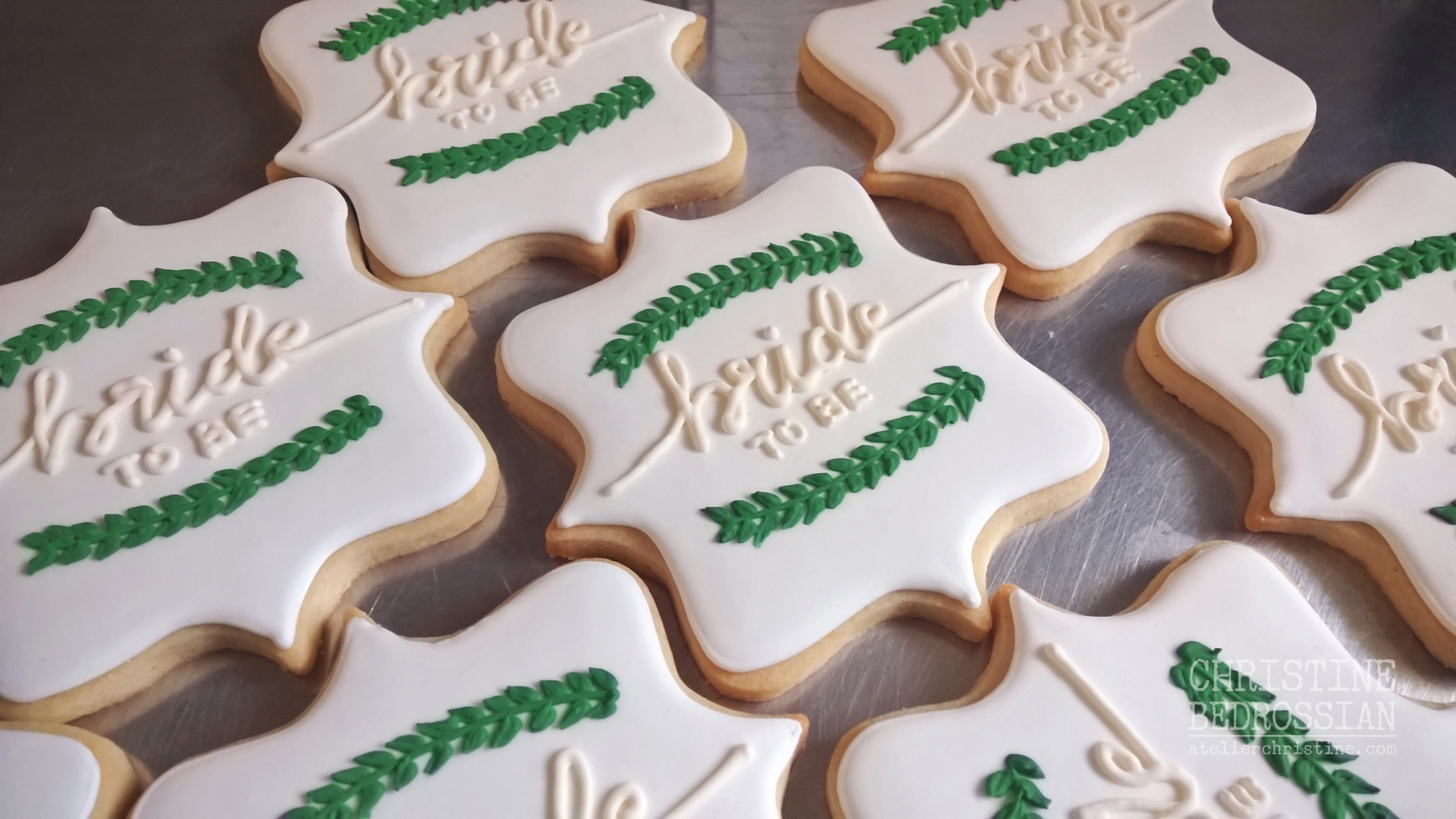 Greenery Decorated Sugar Cookies For A Winter